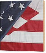 Usa Flag Wood Print by Les Cunliffe