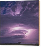 Wicked Good Nebraska Supercell Wood Print