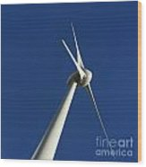 Wind Turbine Wood Print by Bernard Jaubert