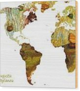 Abstract Map Wood Print