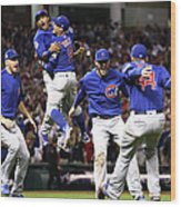 World Series - Chicago Cubs V Cleveland Wood Print