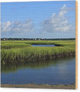 Wrightsville Beach Marsh Wood Print