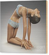 Yoga Camel Pose Wood Print