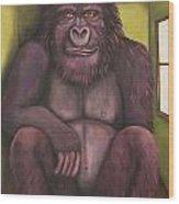 800 Pound Gorilla In The Room Edit 4 Wood Print