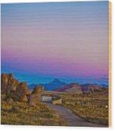 80's Sunset Wood Print