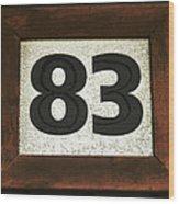 #83 Wood Print