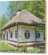 A Typical Ukrainian Antique House Wood Print