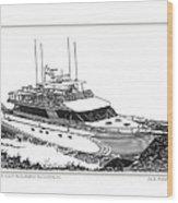 85 Foot Custom Nordlund Motoryacht Wood Print by Jack Pumphrey