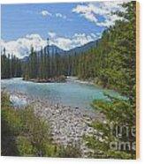 853p Bow River Canada Wood Print