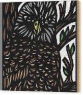Mitzner Eagle Hawk Green Black Brown Wood Print
