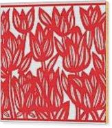 Sandvig Flowers Red White Wood Print