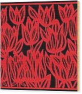 Rottenberg Flowers Red Black Wood Print