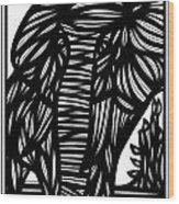 Cubr Elephant Black And White Wood Print