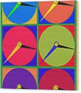 879 - Three Thirty - Eight Pop Clocks Wood Print