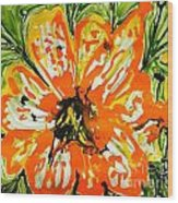 Mann Flowers Wood Print