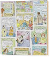 New Yorker April 13th, 2009 Wood Print