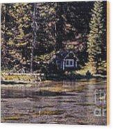 894 Sl A River Runs By Wood Print