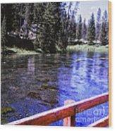 896 Sl Crossing The River Wood Print