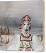 Borzoi - Russian Wolfhound Art Canvas Print Wood Print