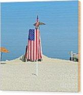9-11 Beach Memorial Wood Print