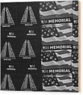 9/11 Memorial For Sale In Black And White Wood Print