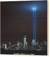 9/11 Tribute Wood Print by Nick Zelinsky