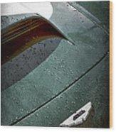 1959 Aston Martin Db4 Gt Hood Emblem Wood Print