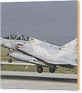 A Qatar Emiri Air Force Mirage Wood Print