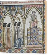 Alfonso X, Called The Wise 1221-1284 Wood Print