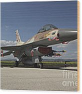 An F-16c Barak Of The Israeli Air Force Wood Print