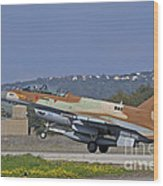 An F-16d Barak Of The Israeli Air Force Wood Print