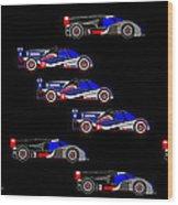 9 Audis and 9 Peugeots Wood Print