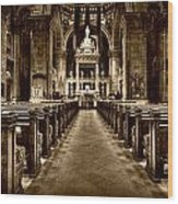 Basilica Of Saint Mary Wood Print