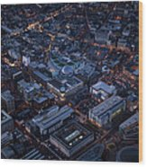 Belfast At Night, Northern Ireland Wood Print