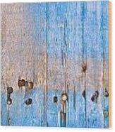 Blue Wood Wood Print