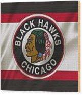 Chicago Blackhawks Uniform Wood Print