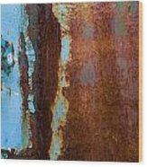 Colored Rust Metal Wood Print