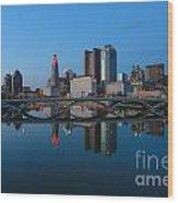 Fx2l-508 Columbus Ohio Skyline Photo Wood Print