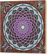 Cosmic Flower Mandala 6 Wood Print