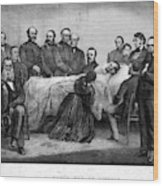 Death Of Lincoln, 1865 Wood Print