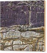 Devonian Slates Wood Print
