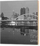 Downtown Skyline Of Columbus Ohio Wood Print