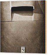 Ferrari Hood Emblem Wood Print