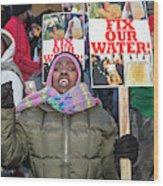 Flint Drinking Water Protest Wood Print