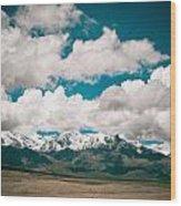 Himalaya Range Wood Print