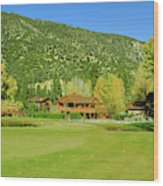9-hole Golf Course In Autumn At Pine Wood Print