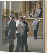 9. Jesus Before The Magistrate / From The Passion Of Christ - A Gay Vision Wood Print