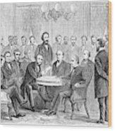 Johnson Impeachment, 1868 Wood Print