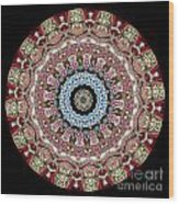 Kaleidoscope Colorful Jeweled Rhinestones Wood Print by Amy Cicconi