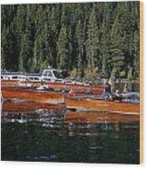 Lake Tahoe Wooden Boats Wood Print
